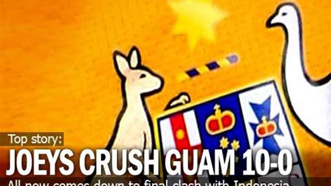 Joeys Crush Guam 10-0 But Still Need A Win