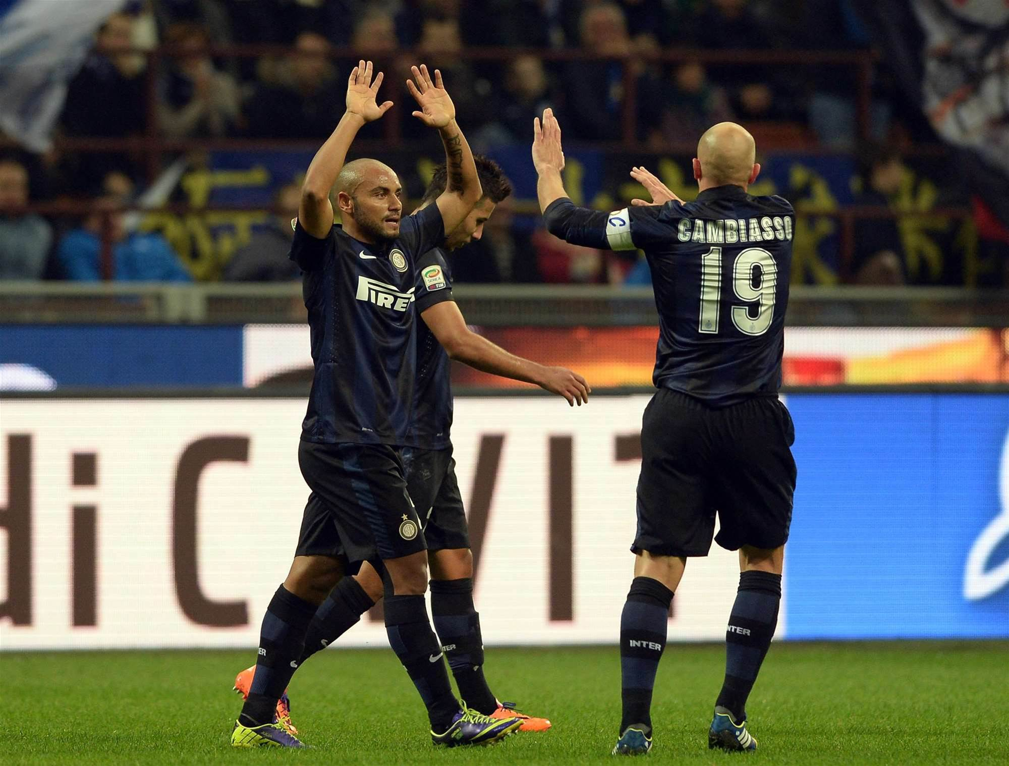 Own goal helps Inter defeat Livorno 2-0
