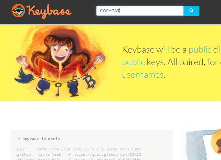 Font flaw allowed Keybase copycats