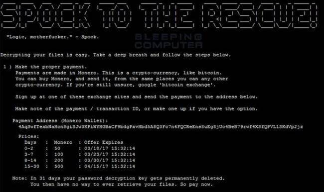 Star Trek-themed Captain 'Kirk' ransomware with Spock decryptor spotted