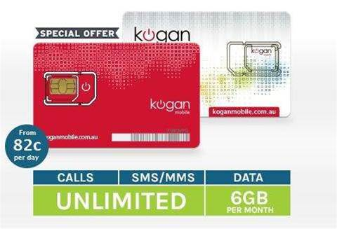 Kogan Mobile offers unlimited mobile calls, 6GB data for $29