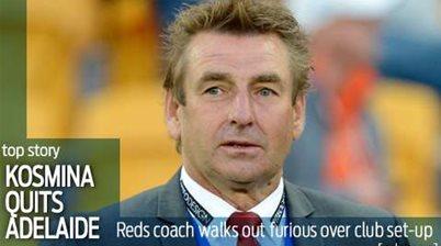 John Kosmina quits Adelaide United