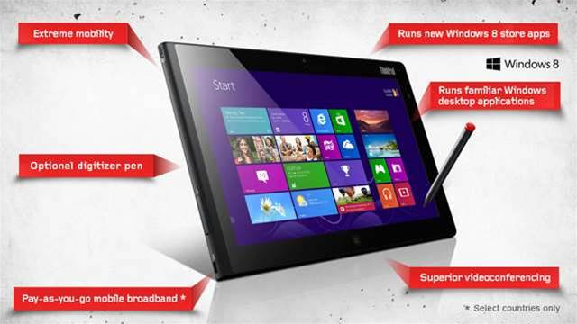 Lenovo boasts of thinnest and lightest Windows 8 tablet