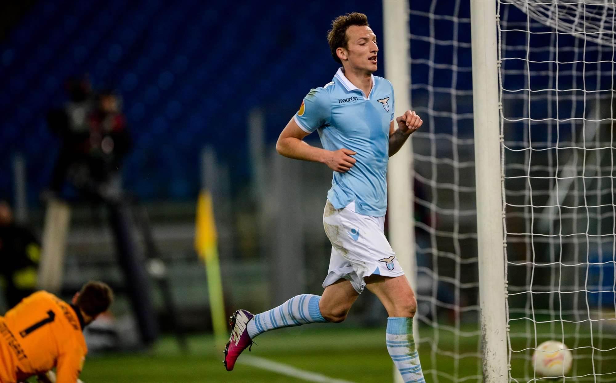 Aston Villa sign Lazio striker Kozak