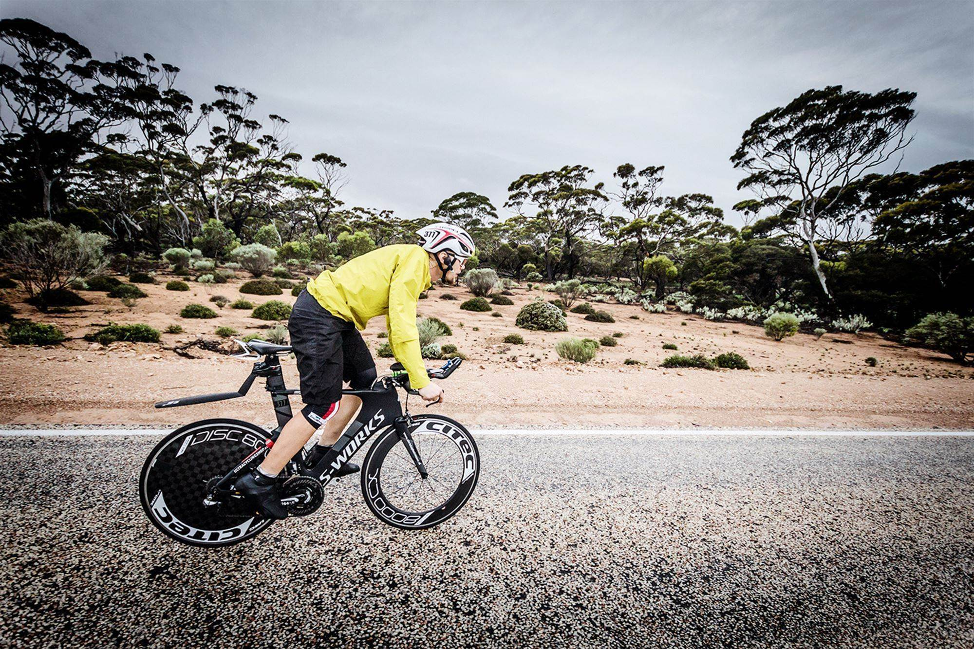 Ultra cyclist completes Trans-Australia ride in just six days!