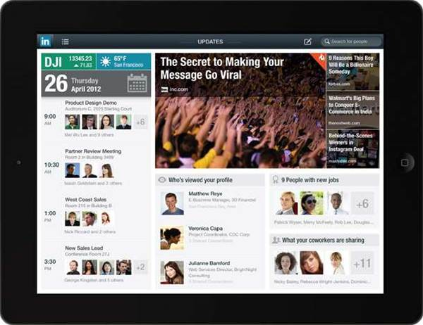 Product brief: LinkedIn for iPad