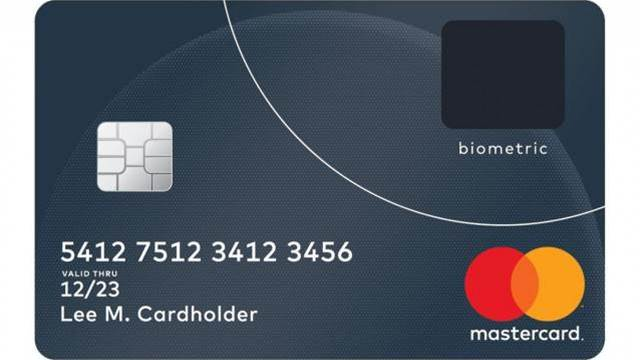 Mastercard credit card has a built-in fingerprint sensor