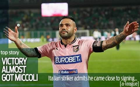 Miccoli confirms Victory just missed out