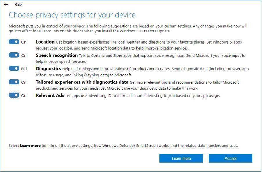 Microsoft comes clean on Windows 10 data collection