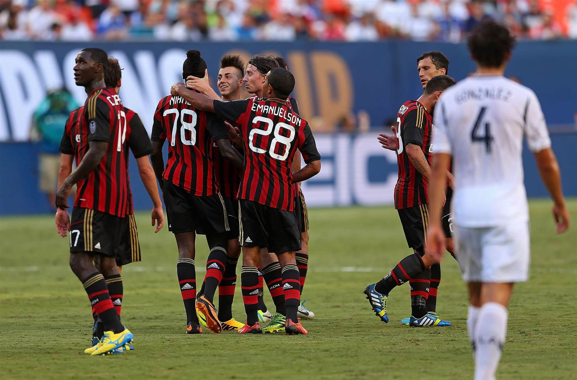 AC Milan finish with win over LA Galaxy