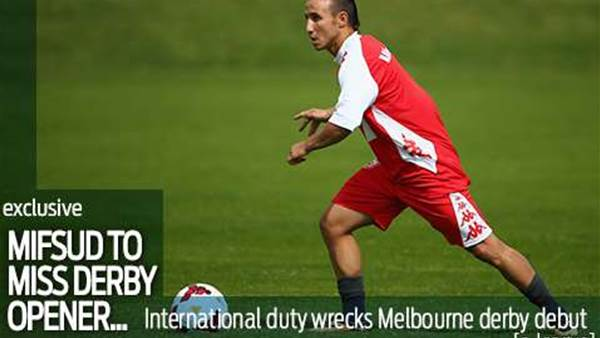 Mifsud to miss Melbourne derby