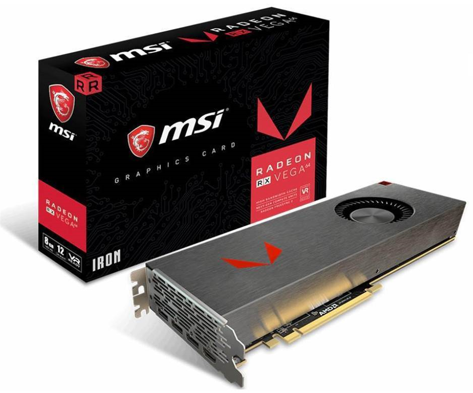 MSI reveals sexy metallic RX Vega 64 video card