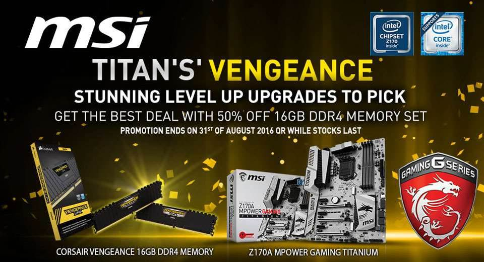 MSI bundling Corsair RAM with MSI Mpower Titanium mobo