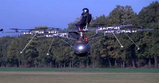 VIDEO: Manned Multicopter Takes Flight, No One Killed Or Maimed
