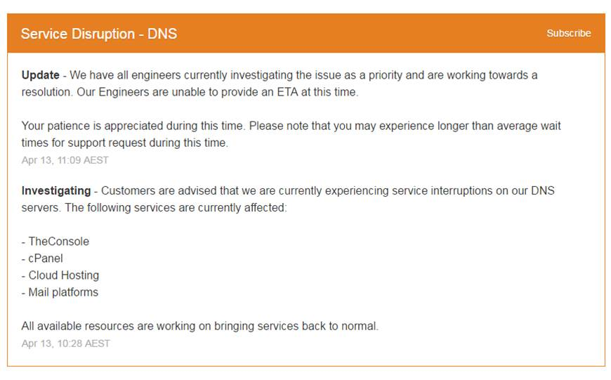 Melbourne IT's DNS falls over in 'major outage'