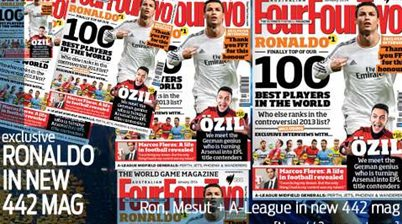 Ronaldo exclusive in new 442 mag