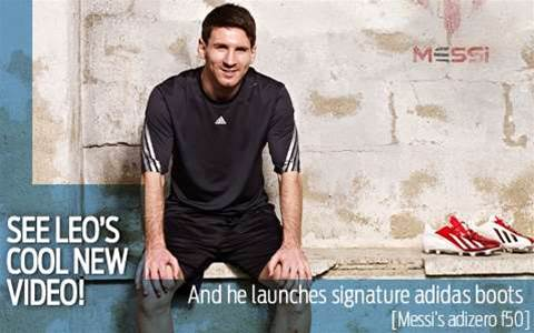Messi's exclusive new boots