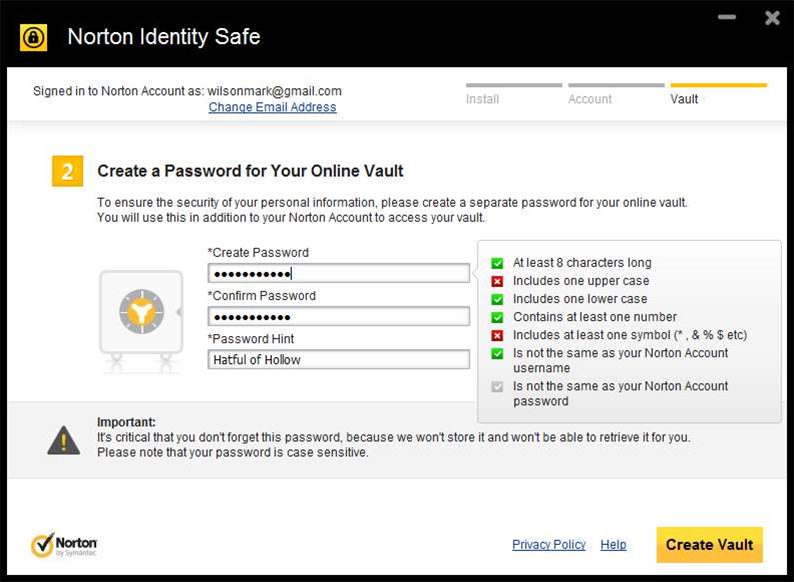 Forget sticky notes – Norton Identity Safe is a free password manager