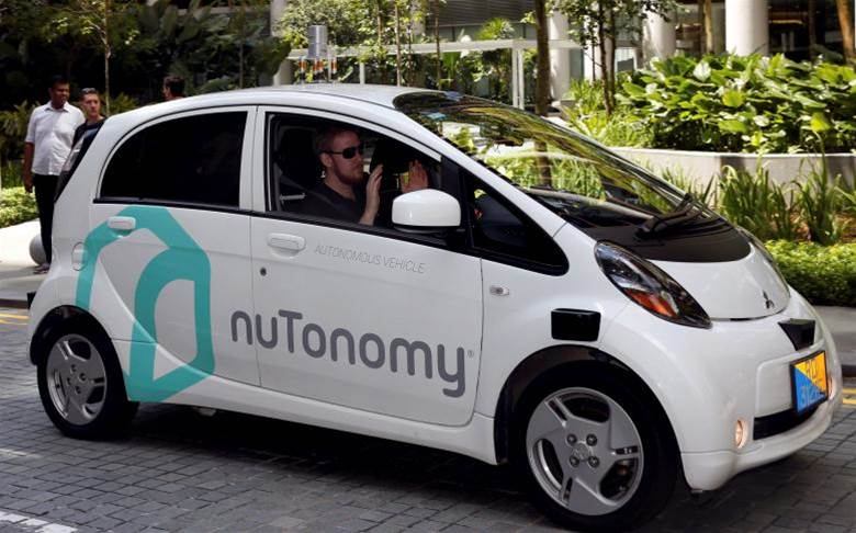 Driverless car collides with a truck in Singapore trial