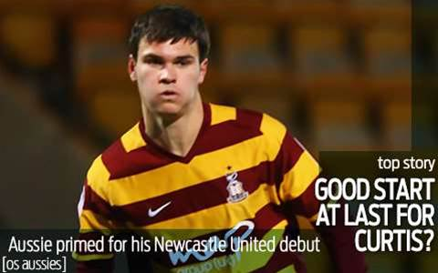 Curtis Good set for Newcastle debut