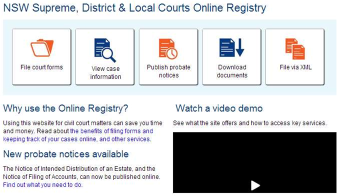 NSW brings civil court form system into online era