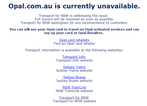 NSW Opal card suffers system, website crashes