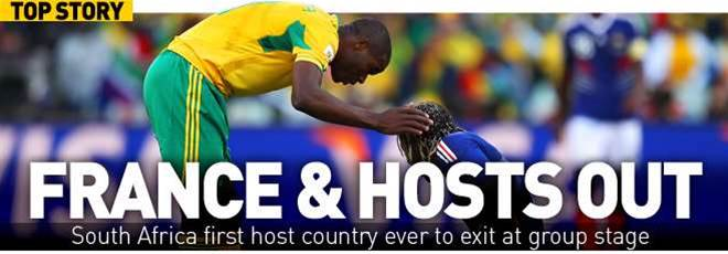 France And South Africa Exit World Cup