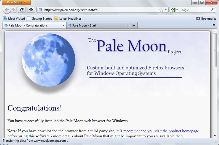 Pale Moon 4 is a speed-optimized version of Firefox 4