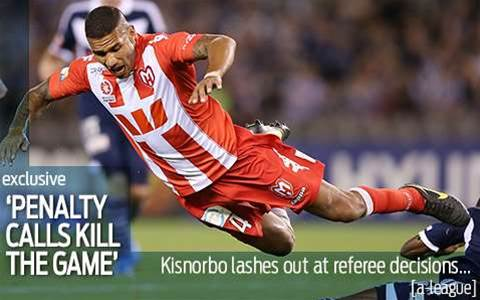 Kisnorbo lashes out at ref calls