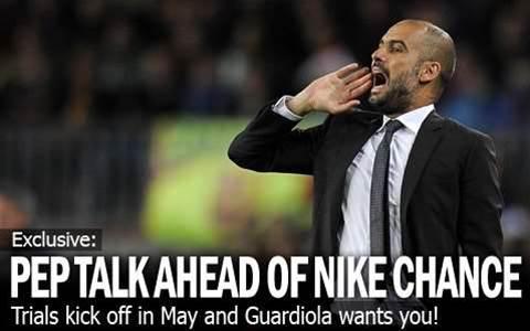 Pep Talk Ahead Of Nike Chance
