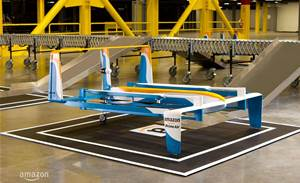 Amazon shows off new hybrid delivery drone