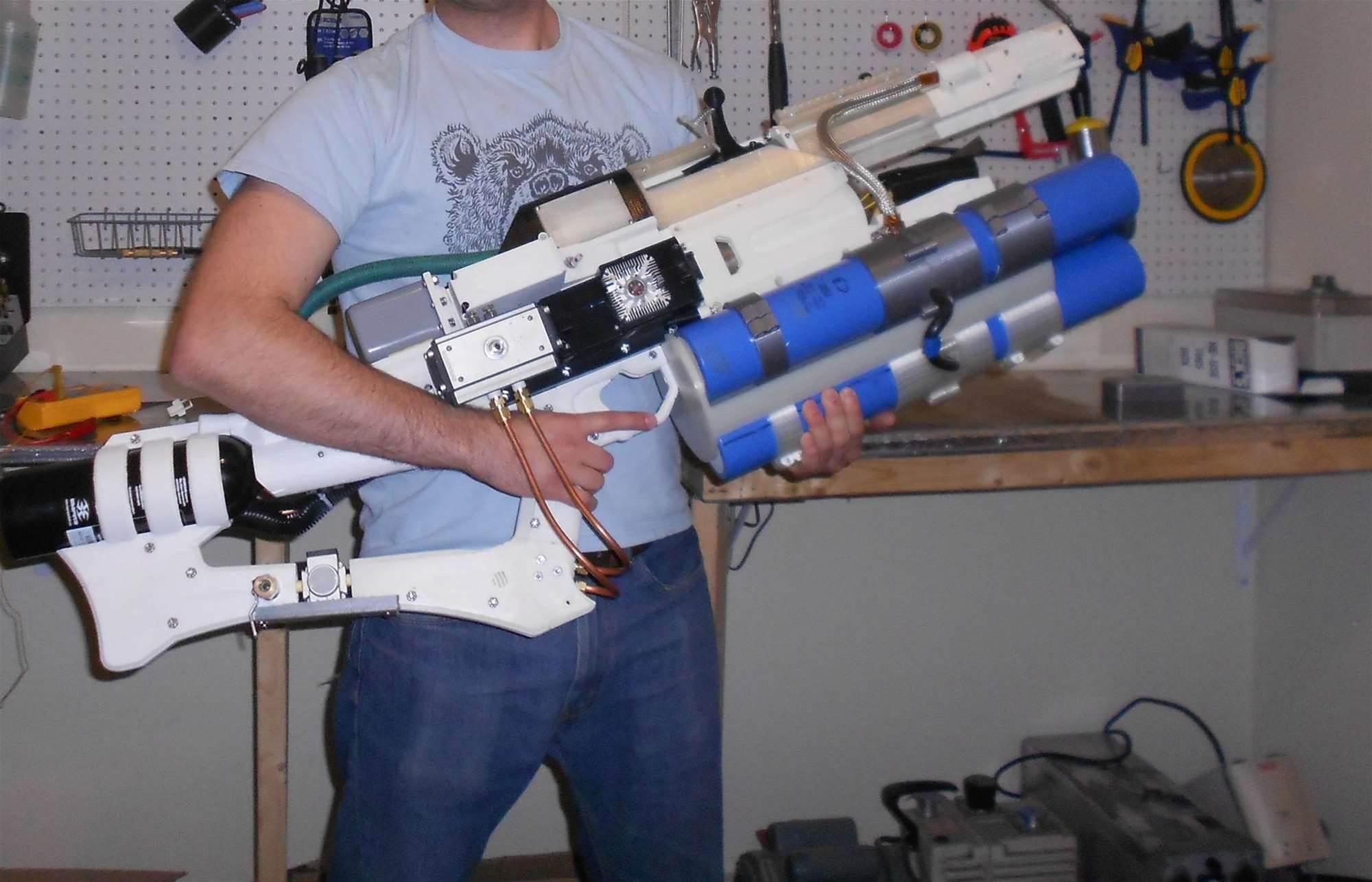 Watch This Homemade Railgun Fire A Projectile Into A Rockmelon