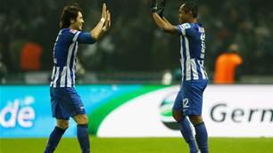 Hertha Berlin  edge Werder Bremen 3-2
