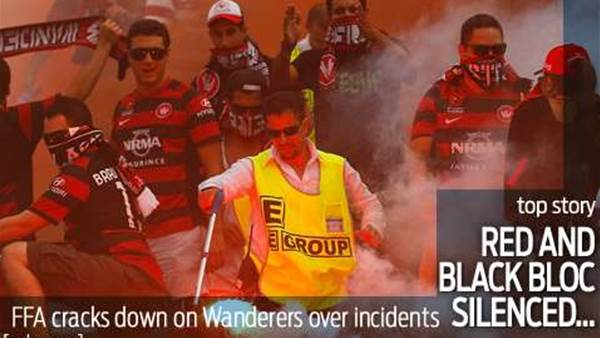 Wanderers' Red and Black Bloc silenced