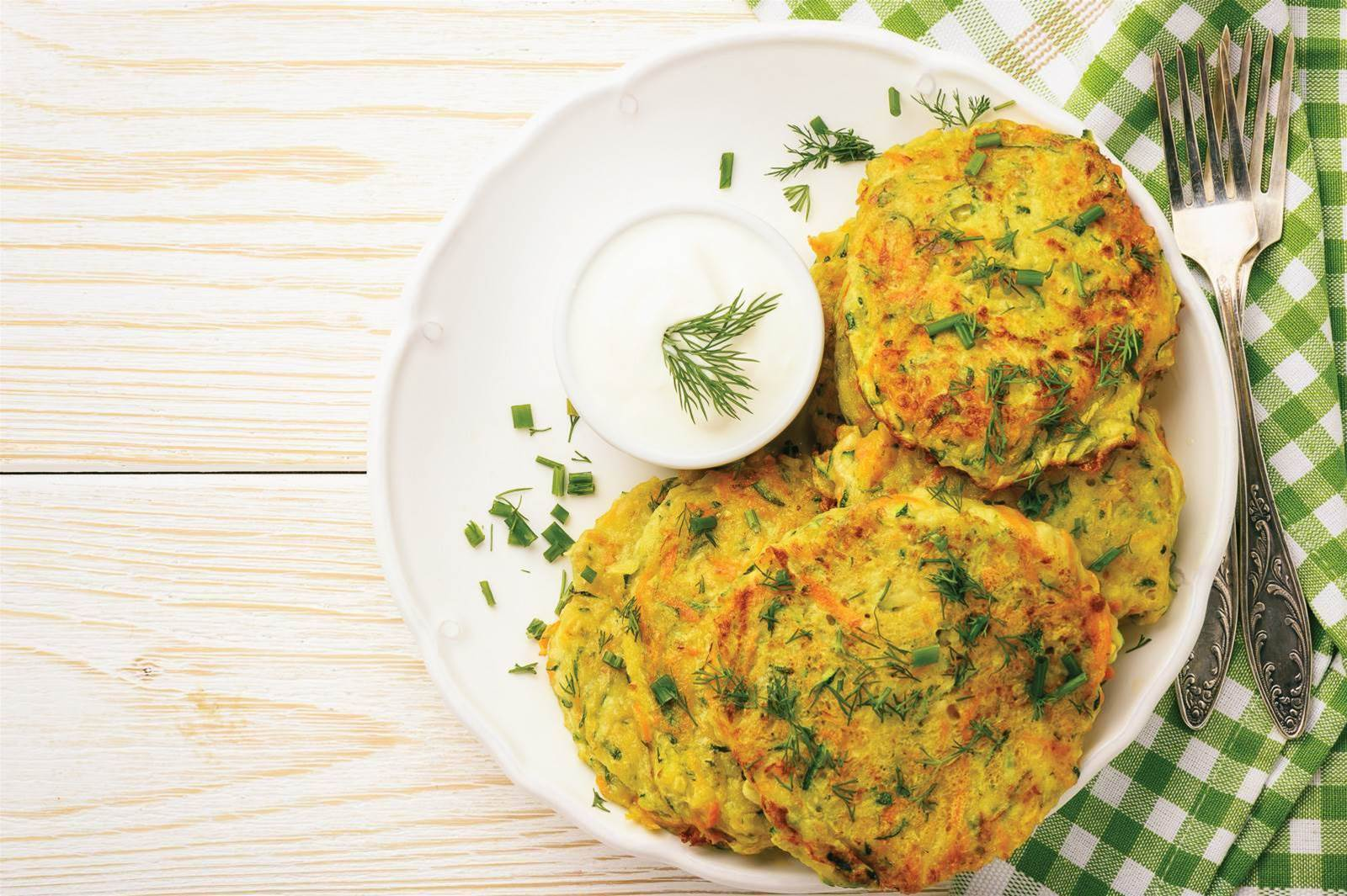 Zucchini, Carrot and Egg Fritters