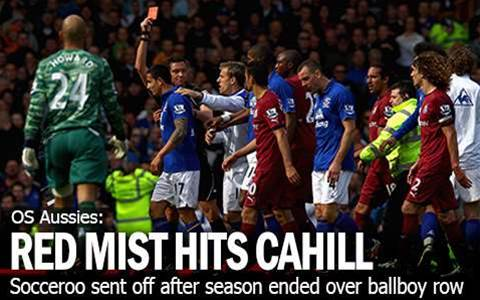 Tim Cahill Sees Red Over Ballboy Row