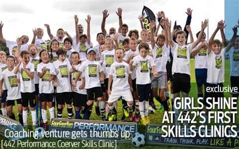Girls shine at 442 skills clinics