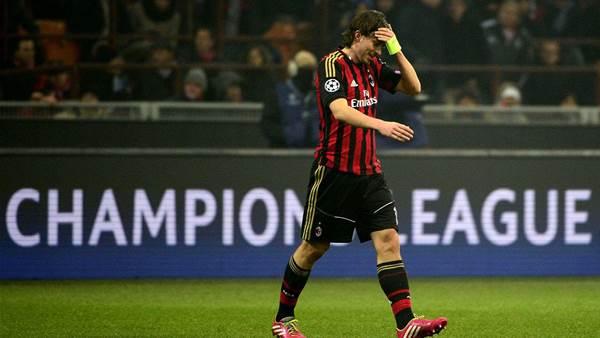 Ten-man Milan progress after goalless draw