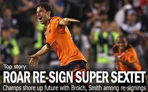 Broich Among Six Roar Re-Signings
