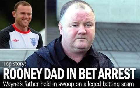 Rooney's Dad Held In Bet Scam Probe