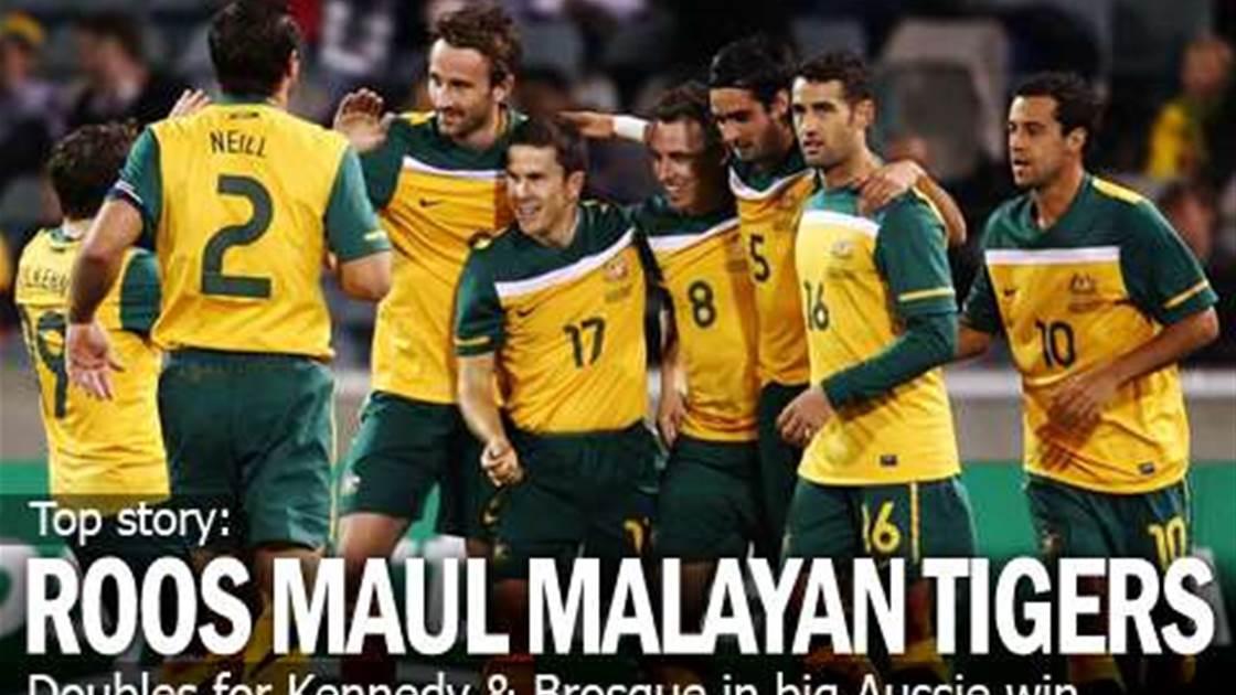 Socceroos Romp Past Malaysia