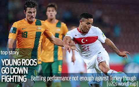 Young Socceroos go down fighting