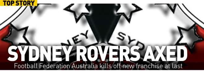 Sydney Rovers Scrapped