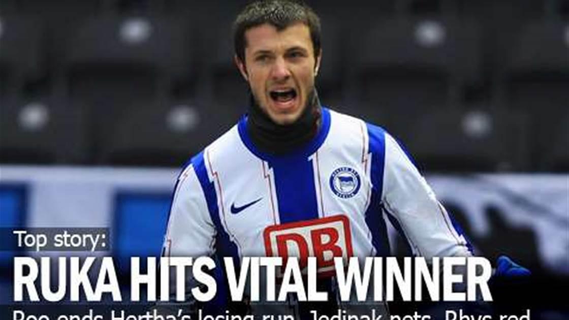 Rukavytsya Hits Vital Hertha Winner