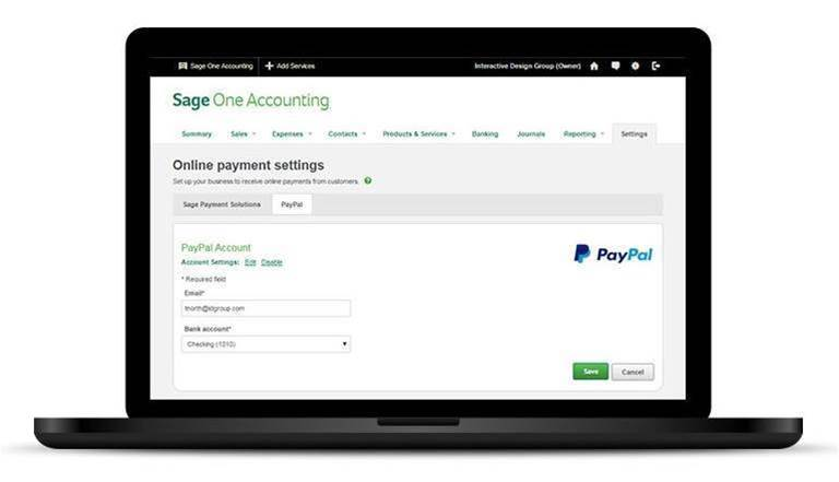 Sage One now connects with PayPal