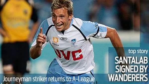 Brendan Santalab signed by Wanderers