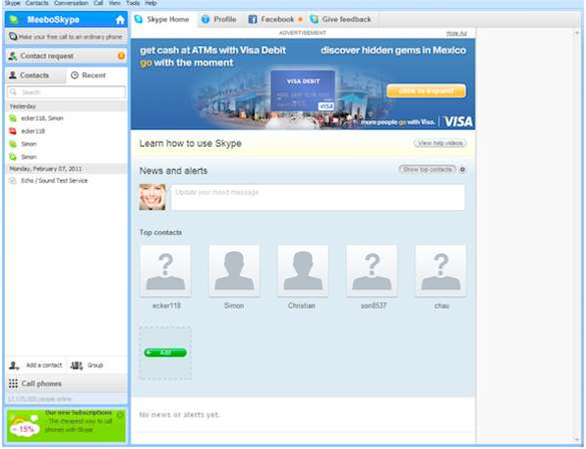 Skype now free ad-supported software