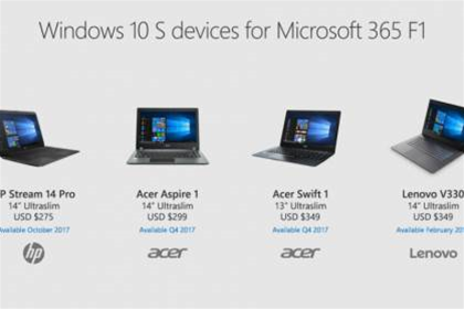 HP, Acer and Lenovo take aim at businesses with Windows 10 S devices