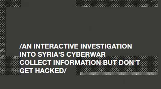 Al Jazeera game simulates journalists' risky role in Syrian cyber conflict