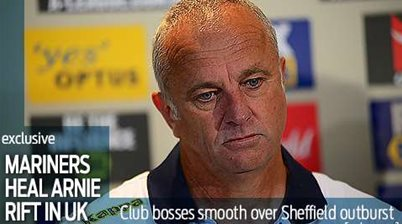 Mariners heal Arnie rift with Sheffield United